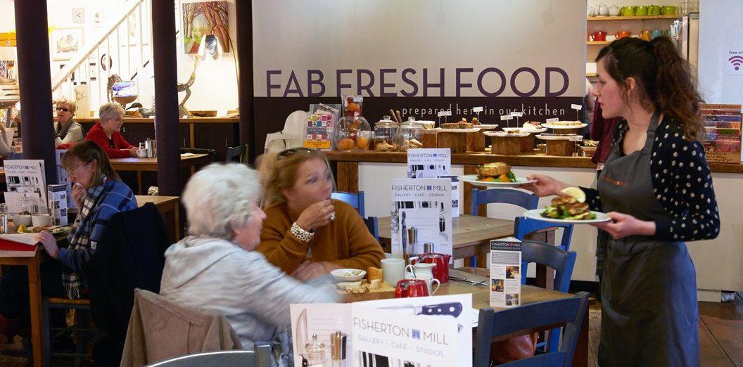 Fisherton Mill - The Gallery Café interior