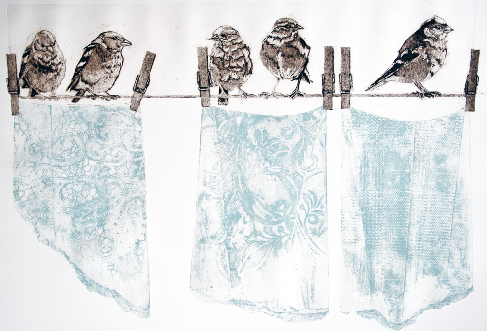 Sue Brown print entitled Dirty Laundry.