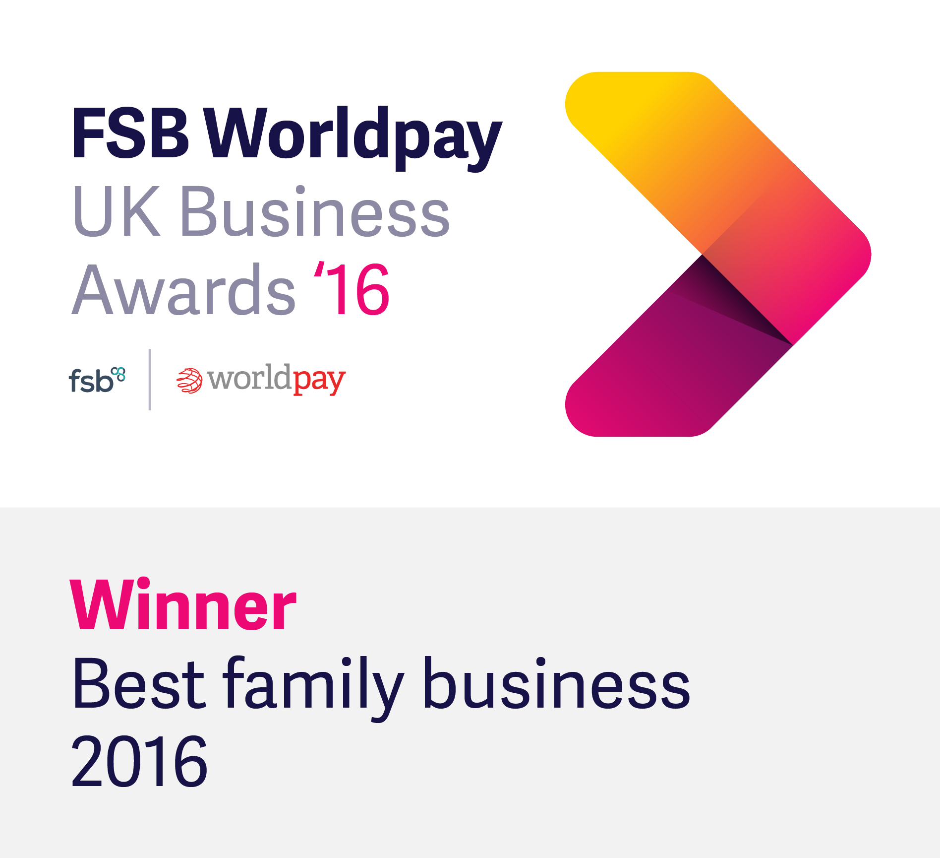 FSB/Worldpay Winners of the Family Business of the Year Award 2016