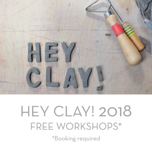 A series of free workshops over two days, being run in collaboration with the Craft Council, to provide a taster of what it is like to manipulate and make items with clay .