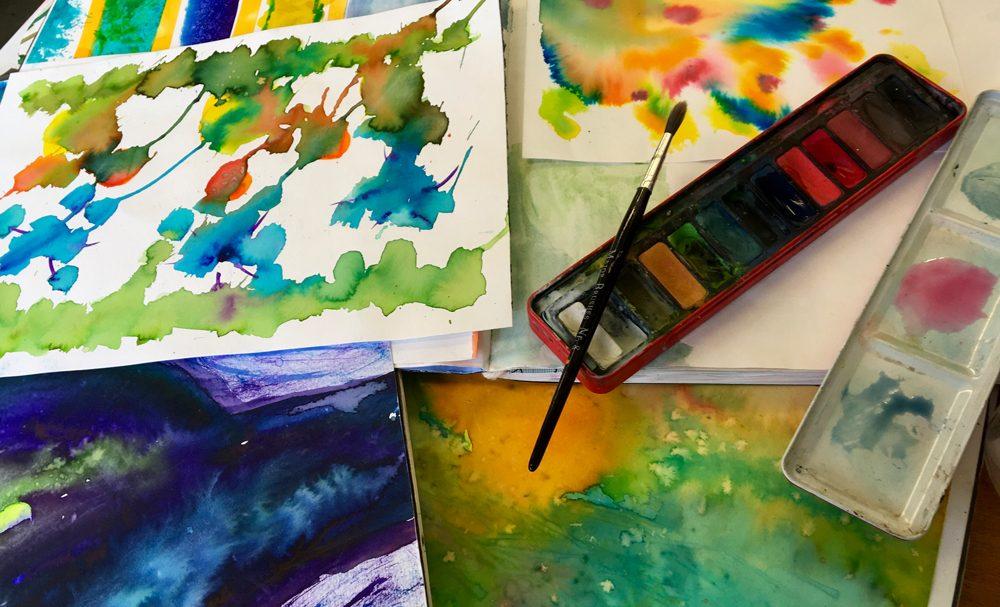 Zoe Crockford Watercolours for Kids workshop image