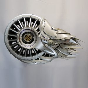 "Ptolemy Erlington's sculpture ""Nautilus"" for Recreate Exhibition at Fisherton Mill - July & August 2018"