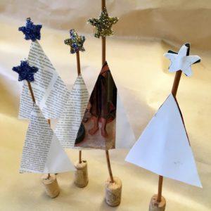 Zoe Crockford Paper Trees and Rag Wreaths workshop image 1
